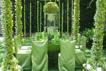 "Green + Teal Weddings & Events / Ideas for green wedding decor, teal wedding trends, and  palettes incorporating the two for your ""I Do"""