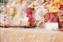 Orange + Yellow Wedding Ideas / Bright ideas for orange weddings, yellow weddings and other brightly colored parties
