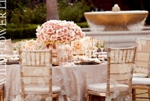 Ivory + Champagne Weddings / Ideas for ivory colored weddings, champagne weddings, and lovely linens in muted palettes perfect for celebrations
