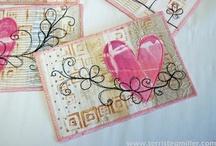 Artist Trading Cards (ATC) & Postcards / Fabric ATC and Fabric Postcard inspiration