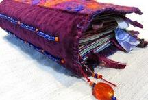 Art journals / Lots of art journal ideas, mainly fabric