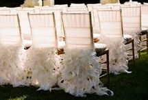 Curly Willow Ruffles Collection / Everything from linens, chair covers, accessory ties and more, all in our signature curly willow ruffle collection!