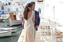 """Your Wedding Story #Aerliadress / There is a memory that never fades and it is you in your wedding dress. Confide in authentic vintage charm! @Maria Tsagkaraki wearing the """"Hellenic Vintage"""" Collection."""