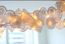 paper doilies / Pretty things with paper doilies.
