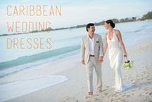 Caribbean Wedding Dresses / Tips for choosing the perfect Caribbean wedding gown 1. Hem your dress as you will sink (slightly) in the sand 2. Conquer gusts of wind with a silhouette shape 3. Choose a gown made of premium, featherweight materials such as charmeuse, silk, organza, crepe or chiffon, which are light and easy to pack, as you travel 4. Avoid heavy beading or layers due to heat 5. Don't be afraid to show your unique style! / by Celebrations Ltd.
