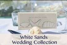 White Sands Wedding Collection / The White Sands Wedding Collection is designed exclusively for brides looking for a dream destination wedding, with a realistic price tag. Inspired by the world famous Seven Mile Beach in Grand Cayman, this collection offers pre-designed components for your wedding, from the ceremony to reception, wedding invites to favors, and those special touches for you and your guests. Inspiration: White sand beaches. Crisp white decor and subtile accents, bringing simple yet breathtaking beauty. / by Celebrations Ltd.