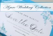 Azure Wedding Collection / Inspired by the deep blue ocean. Stunning hues of blue against contrasting dark woods, bringing a piercing sea of colour. Azure Wedding Collection offers every component for your wedding, with integrated designs from ceremony to reception, wedding invites to favors, and those special touches for you and your guests. With the JVB Wedding Collections, you are able to view and choose every aspect of your designer wedding. Visit http://www.celebrationsltd.com/weddings/jvb-collections  / by Celebrations Ltd.