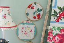 vintage tablecloths and tea towel ideas