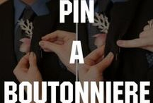 HOW TO PIN A BOUTONNIERE / It's the red carpet event of your youth and part of looking dapper means matching your stunning suit with a boutonniere. Have no fear! We're here to show you how to pin a boutonniere! / by Celebrations Ltd.