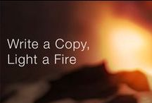 Write a Copy , Light a Fire / 気持ちに火がつくコピー集