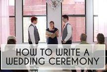 Ceremony Ideas / Ideas for the wedding ceremony.