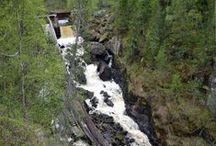 Auttiköngäs / Auttikönkään vesiputous Rovaniemellä. Auttiköngäs Waterfall in Rovaniemi.
