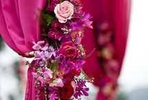 Wedding Colours: Fuschia / Fuschia wedding colour scheme