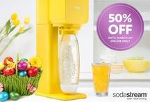 SodaStream Sparkling Water Makers / Add a little sparkle to your tap water in seconds with SodaStream Sparkling Water Makers. With a variety of styles and functionality, there is a machine for every kitchen! Each Sparkling Water Maker comes with everything you need to start sparkling.
