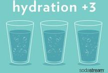 Healthy & Hydrated / Your body loses water by sweating, breathing and getting rid of waste. If you lose more fluid than you take in you can get dehydrated. People with a SodaStream consume 43% more water and water-based drinks than those without a SodaStream. That's about 3 more glasses of water per day per person! Add a little sparkle to your day with SodaStream, and stay hydrated!