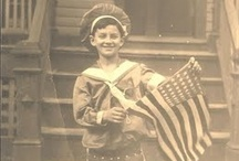 Grand Ole Flag / U.S.A. all the way...love the vintage photos, especially of the children. / by Lizzie L