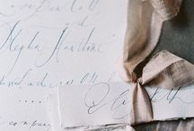 Wedding Ideas: Calligraphy / Wedding details - calligraphy