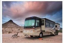 RV Living with Kids / Curious how things work for full time traveling families? Budgets? Showering? Grocery shopping? Internet? Beds? Get the inside scoop on tiny living.