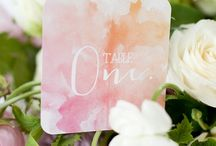 Wedding Themes: Watercolours / Watercolours and marbling wedding theme