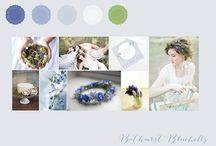 Bluebell shoot / Spring bluebells wedding inspiration