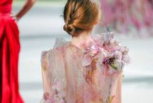 Painted wedding dress / Watercolour and painted wedding dress inspiration