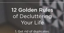 Declutter tips / When you are searching for what you REALLY want in life - you need to clear out and keep clearing out the 'stuff' that is relative to the older version of you.  DECLUTTERING IS YOUR BEST FRIEND!