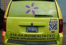 What A Bloom Van / We just recently put these wheels in motion. Pin a photo of our van on the streets and you could win a $100 gift basket!! / by WHAT A BLOOM Florist in Canada