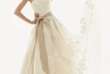 Here comes the Bride... / Bridal apparel,  jewery, hair accesories and shoes / by Melenie Bongner