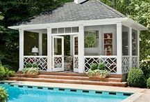 Poolside Perfection / Experience poolside perfection with blissful lighting, lounge furniture and decor to inspire your outdoor oasis! Enhance your poolside paradise now or save these ideas for later and create your own dream backyard getaway!
