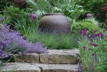 Garden Inspiration / Inspiration comes from many sources in the garden; art, nature, pottery, stone, water, plants... together or individually those elements create something wonderful.