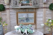 Shutters / The versatility of shutters.....Weathered, chipped and peeling paint? Yes please!