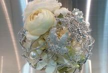 Bouquets...Bouquets!!! / So many beautiful bridal bouquets.  So many different flowers.  #wedding bouquets  #crystal bouquets  #tropical bouquets