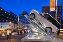 """""""Climbing Up"""" / Land Rover USA, HWKN and Architectural Digest, will unveil a one-of-a-kind sculpture to mirror the all-aluminum body structure of the Next Generation Range Rover in NYC. This collection of pins feature the inspiration behind the project, the development process and the unveiling taking place on June 6. #LRClimbingUp"""