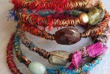 Jewelry: With Sari Silk