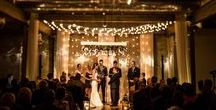 Front + Palmer / Weddings and special events at Front + Palmer with Feast Your Eyes Catering. An industrial but elegant space with high ceilings, chandeliers, wood beams and a modern and transformative atmosphere.