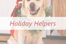 Holiday Helpers / We're sharing holiday advice + tips from those who know best—YOU! Plus, yummy recipes, gift ideas, holiday décor how-to's, & more!