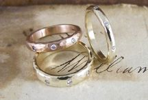 Handmade Wedding Rings / Beautiful, unique and unusual handmade wedding rings made in our Lewes workshops
