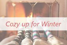 Cozy Up for Winter / All the feel good parts of winter! Cozy sweaters, a warm fire and some hot cocoa!
