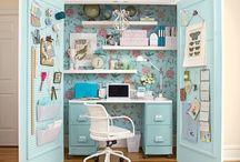 BUSINESS : Studio - craft space / Trying to find the perfect way to organize and decorate a home craft room / studio