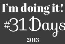 31 day challenges / 30-31 day series