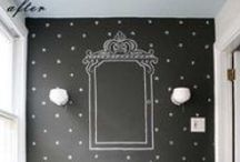 WALLS : Chalkboard wall ideas / Ideas on how to make the chalkboard wall stand out