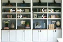 STYLING : bookcase / bookcase styling, how to create a peaceful functional space