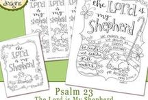 Karla's Coloring Pages / Free downloadable coloring pages... perfect for a family gathering or Sunday School class or all for you!