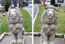 The Festive Lion House / When the house comes with lions, you just have to have some fun with it!