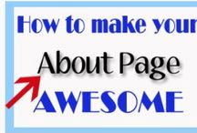 Awesome ABOUT pages! / You have an about page don't you?  YES!  You have a section on every social media site, blog and website.  USE it in the right way, these are great examples of HOW to make your about page fun and interesting!