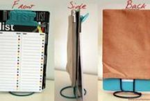 Creative Organization Ideas / Storage and organization ideas that are pretty. The ultimate in form meets function!