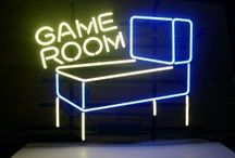Alex's GAME ROOM / My husband loves Pacman! / by Missy Reeder