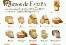 Quesos-Fromage-Cheese / Si te gusta el queso, entra en este tablero y encontrarás gran variedad de ellos.