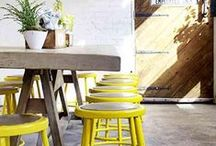 Yellow Decor / Yellow pops. It's happy. Here are ways to use it!