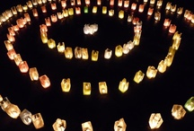 Candles / Shimmering lights, and gentle fragrances. Whether you buy them, or make your own, they set the mood!